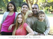 Diverse family iStock image