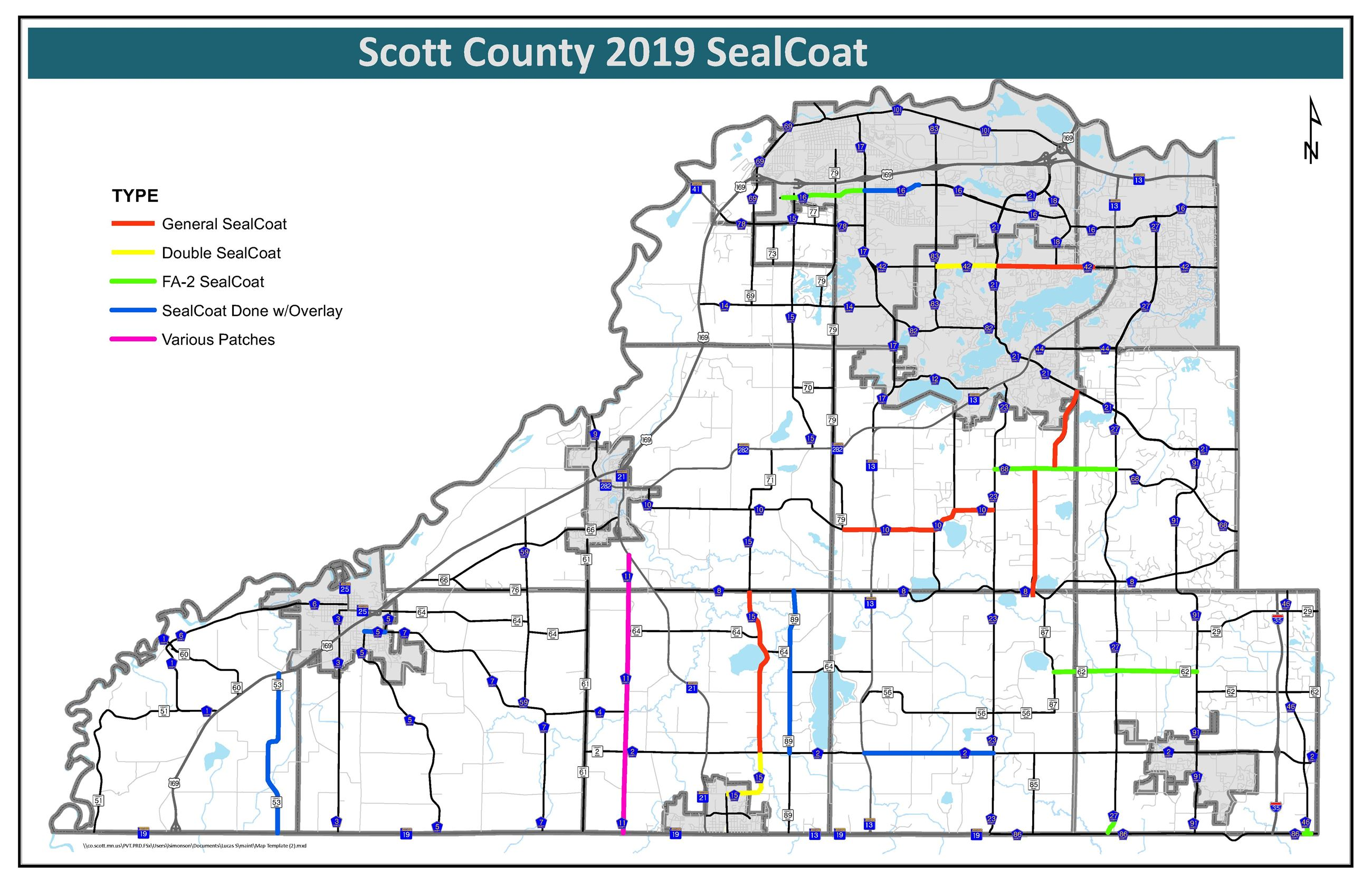 2019 SealCoat Map