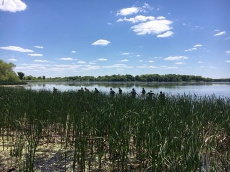 New Prague students survey fish populations