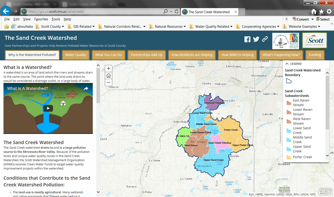 Sand Creek Watershed Story Map