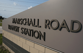Marschall Road Transit Station Sign